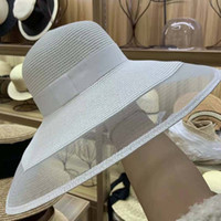 Büyüleyici Veil Netleştirme Sun UPF 50+ Bayanlar Kentucky Derby Şapkalar Geniş Brim Straw Kadınlar Yaz Plaj Cap Fedoras Elbise Şapka Y200716