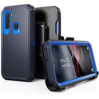 아이폰 13 LG Stylo 7 Revvl 5G 4 Plus 삼성 S21 Ultra를위한 수비수 갑옷 클립 케이스