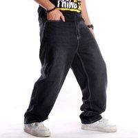 Мужские джинсы Сыпучие Хип-хоп Плюс Размер Мужская Длинные брюки сезона Tide Man Colthing мешковатые штаны хип-хоп Джинсовые брюки