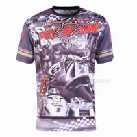 شحن مجاني موتو GP جزيرة آيل أوف مان سوبربايك بطل مايكل تي شيرت سباق الدراجات النارية تي شيرت MX DH الترابية دراجة موتوكروس mCxj #