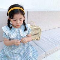 منقوشة 2020 الصيف الجديدة الدانتيل حافة البحرية طوق A مو قرد الأطفال نمط الكورية طفلة الأميرة تنورة
