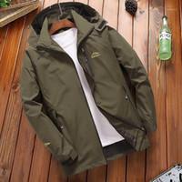 Casual Rüzgarlık Ceket Erkekler İlkbahar Sonbahar eskitmek Su geçirmez ceketler Erkek Kapşonlu Coat Turizm Dağ Ceket MEN1