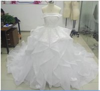 Prawdziwe zdjęcia vestidos de novia suknia balowa suknia ślubna łódź szyja krótkie rękawy koronki plus size ślub rosnąć panny młodej suknia