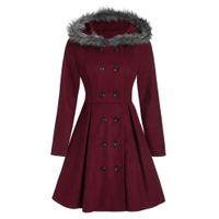 Nouvelle marque Femmes Sweat à capuche Princesse Snow Winter Gardez Wearwear Trenchers à double boutonnage Couvertures Slim Overcoat Taille S-3XL