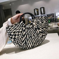 Designer- Female Summer Bag Bags Crossbody Messenger Women 2020 Tote Handbags Wicker Ladies Rattan Shoulder Straw Beach Kkmuv