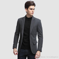 2020 Grey Tweed Designer Formal Mens Suits Custom Made Busin...
