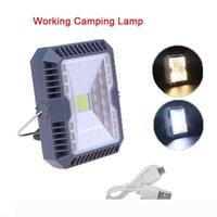 Garden Solar Light Solar Floodlight Spotlight 3 Modes COB LED Working lighting USB Rechargeable Emergency Handheld Lamp