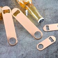 Rápido Garrafa envio Rose Gold aço inoxidável cerveja abridor de metal abridor de garrafas personalizado LOGO criativa abridor de garrafas de cerveja Suprimentos T5602