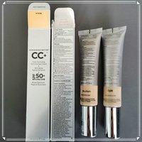 메이크업 CC 페이스 크림 당신의 피부하지만 더 나은 CC 크림 컬러 코 렉팅 조명의 풀 커버리지 크림 컨실러 SPF 50 가벼운 중간 32ml