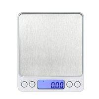 Scala dei monili Cucina Digital Mini Pocket precisione in acciaio inox peso di equilibrio 3000g / 0.1g 500g / 0.01g JK2005XB