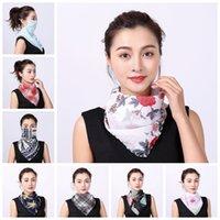 Stampa floreale antivento sciarpa di modo anti-UV Outdoor Sport Ciclismo Maschera della signora estate del fazzoletto da collo regolabile Protezione Collo LJJP224