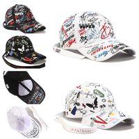 Fashion Graffiti-art Baseball Cap Trendy Summer Men Women Sunhats Sports Casquette Hip Hop Snapback Caps Long Strape Caps Outdoors Hats Top