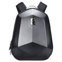 cáscara dura patrón de la bolsa casco bolsa de ordenador de fibra de carbono brigada motocicleta conducción de motocicletas hombro mochila caballero bolsa de bicicleta de carreras