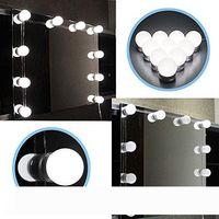 Голливуд Стиль Светодиодные Зеркальные Огни Набор световых светофоров с электрическими лампочками, светильником освещения для макияжа