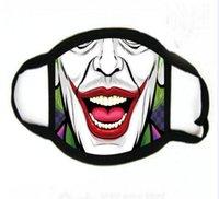 US STOCK Designer Masque Funny Face réutilisable Cartoon Imprimer Masque anti-poussière Ultraviolet épreuve Lavable Courir Vélo Masque de protection