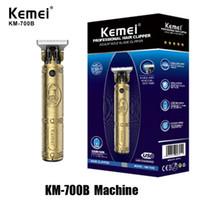 100٪ آلة الأصل KEMEI KM-700B KM-700A محل حلاقة الشعر الكهربائية المقص الشعر المهنية اللحية المتقلب قابلة للشحن أداة لاسلكية