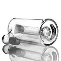 Стекло золоуловителя 45 градусов Душевая насадка перколатор один внутри 14мм совместного густого прозрачного стекла ashcatcher для водопроводной трубы