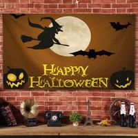 Impreso de Halloween decoración de Halloween Tapiz Tapiz paño colgante personalizado de fondo en vivo del paño Tapiz de decoración mayorista