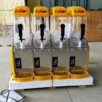 Machine de fusion à la neige de la glace commerciale Quatre cylindres Slush Boissons à froid Smoothies Machine de glace de sable de la machine Granita