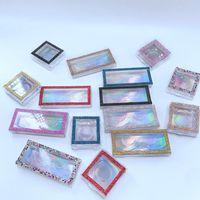 Glitter Rhinestone Lash Case 3D Mink Eyelashes Empty Custom Packing Boxes Glitter Rhinestone Lashes Cases Without Eyelash GGA3220
