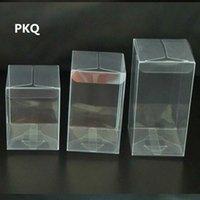 50pcs alta calidad caja de plástico transparente de envases de plástico Cajas de PVC Botella cosmética cajas de regalo del favor del boda de la torta del caramelo de la caja de Macaron jksd #
