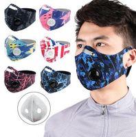 Ciclismo Cara máscara de la máscara a prueba de viento deportes al aire libre a prueba de polvo PM 2.5 Anti-contaminación Ejecución de filtro de carbón Máscara lavable con filtro EEA1761