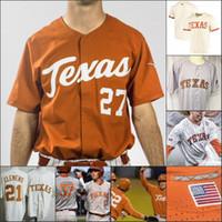 Custom Texas Longhorns Baseball Stitched Jersey Personalizzato Qualsiasi Nome Numero DAVID Hamilton Kody Clemens Tate Shaw Ryan Reynolds