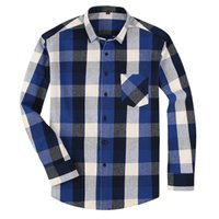 100% Cotton Flannel Men' s Plaid Shirt Slim Fit Spring A...