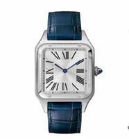Vendita calda Uomini Donne cassa in acciaio moda orologio quadrante bianco vestito quarzo cinturino in pelle 078