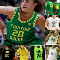 NCAA Oregon Ducks Basketball costurado Jersey Sabrina Ionescu Taylor Chávez Minyon Moore Erin Boley Jaz Shelley Morgan Yaeger Chris Duarte