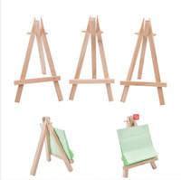 8x15cm legno naturale Mini treppiede Cavalletto Mini Wedding Decoration Pittura Piccolo supporto del menu Consiglio accessoriy titolari stand di esposizione LJJP121