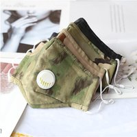 Camouflage Breathing Valve Masks Dust Proof Face Mask Reusable Washable Adult Camo Cotton Face Masks with Breathing Valve CCA12352 120pcs
