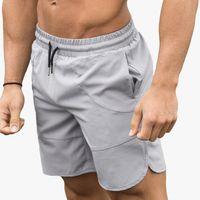 Mens Sport Workout Nylon Shorts Gym athletische Männer fünfte Hosen mittlere Taillen-Sommer-Brett Gym Basketballshorts