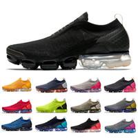 Vapormax 2.0 Flyknit Vapor max Black Light Cream Moc 2 chaussures de course pour hommes des chaussures Knit 2.0 Sail Moon Zapatos formateurs hommes femmes baskets de sport