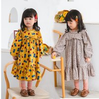 INS Spring Autumn Little Girls Dresses Lovely Floral Quality...
