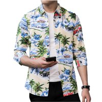 Large Size 7XL New Fashion Flower Shirt Loose and Comfortabl...
