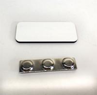 شارة مستطيل مع المغناطيس MDF التسامي اسم العلامة للعمل diy شخصية اسم بطاقة شارة 39x76mm التسامي الفراغات فارغة المواد