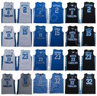 Cole Anthony College-Jersey 2 Basketball North Carolina Tar Heels Universität Vince Carter 15 Nassir Wenig 5 Luke Maye 32 Blau Weiß Schwarz