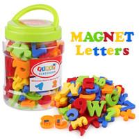 78ピース磁気文字数字アルファベット冷蔵庫マグネットカラフルなプラスチック教育玩具セット就学前の学習スペル数