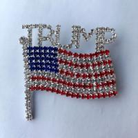 ترامب بروش دبوس 2020 اصطناعية الماس العلم الأميركي بروش الوطني الحزب الجمهوري حملة دبوس بروش صالح T2I51259