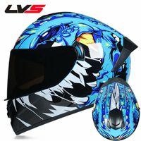 LVS Motocross Kask Offroad Motosiklet Tam Yüz Kaskları Profesyonel ATV DH Yarış Kask Kir Bike Capacete Moto Casco APFJ #