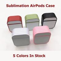 Caso de Airpod com cola e folha de alumínio para impressão de pressão de sublimação 2D Impressão DIY Design personalizado para iPhone 12 Mini 11 Pro Max