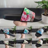 Platform Geniş Flats Kaygan Kalın Terlik Terlikler 2020 Üst Kalite Yaz Moda Çiçek Erkek Kadın Slayt Sandalet Tasarımcı Casual Luxury