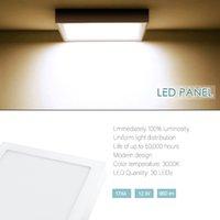 12W 울트라 얇은 따뜻한 화이트 LED 패널 램프 욕실 주방 복도 레스토랑 거실 현대 LED 천장 조명