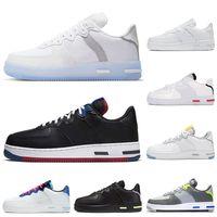 Discount Lumière os 1 React chaussures de course triple formateurs blanc loup gris bleu Astronomy hommes sports des femmes chaussures de sport de jogging marche coureurs