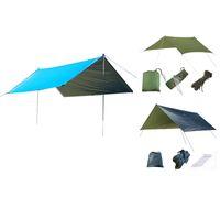 Ultralight Tarp campeggio esterna di sopravvivenza Sun Shelter Ombra Tenda Argento Coating Pergola impermeabile tenda della spiaggia nera