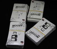 Spedizione gratuita 3000pcs / lot Noosy Nano SIM card Micro SIM card per adattatore adattatore standard convertitore set per iPhone 6/5 / 4S / 4 con pin di espulsione Ke