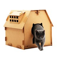 Chat de chat en carton avec tampon de grattage chat chat chat chat-chat-chat de chatte avec lit de couchage jouet pour animaux de compagnie