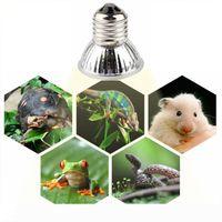 25 50 + 75W UVA UVB 3.0 파충류 램프 전구 거북 녹이는 UV 램프 전구 난방 양서류 도마뱀 온도 컨트롤러