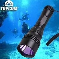 Taschenlampen Fackeln TOPCOM 395NM UV Tauchen Unterwasser 100m 5w LED-Licht 5-Mode ultraviolett laterne lila